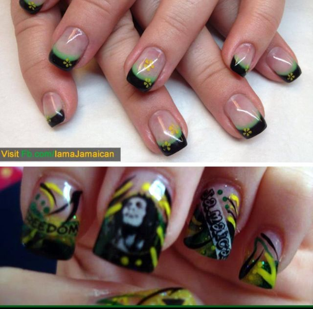 Jamaican nail designs - Jamaican Nail Designs Nails Pinterest French Nails