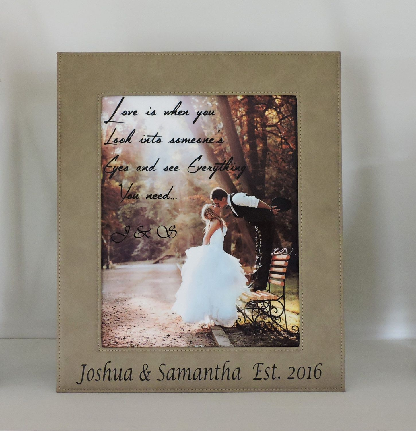 3rd anniversary leather gift leather wedding anniversary gift 3rd anniversary leather gift leather wedding anniversary gift 8x10 photo frame with and personalized jeuxipadfo Image collections
