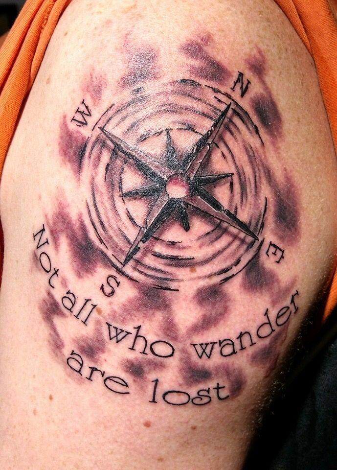 Compass Tattoo By Sarah Hall On Advice Tattoos Compass