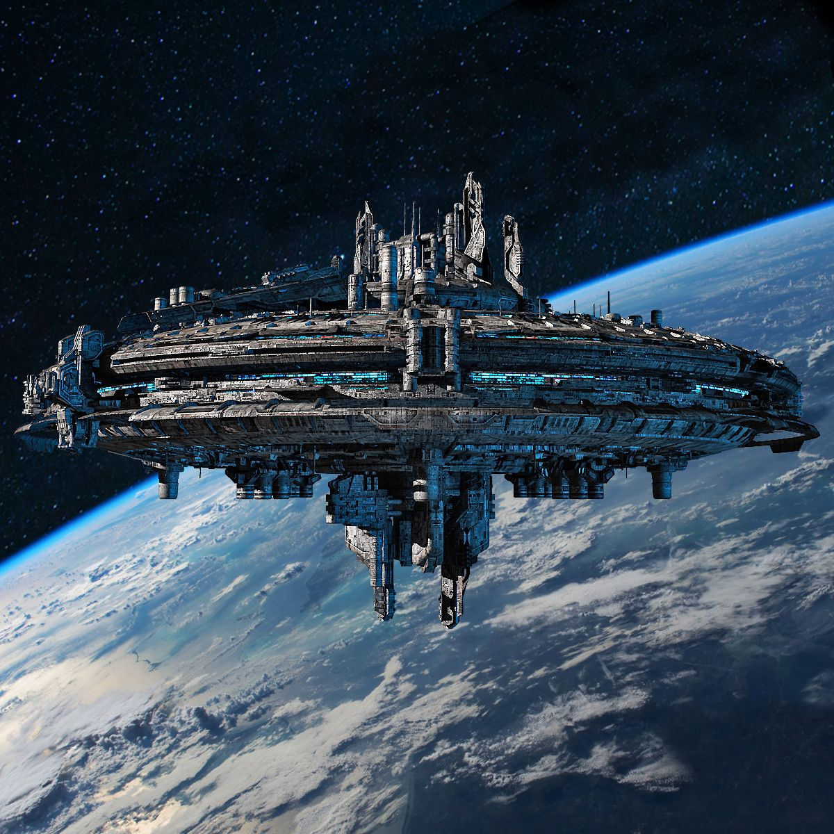 Airport City Game Space Base: Rusty Mothership Max #spaceship