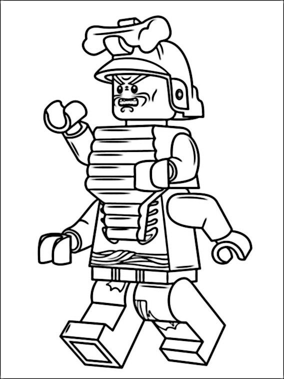 Lego Ninjago Coloring Pages 6 Fargelegging Lego Ninjago Tegning For Barn
