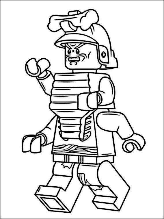 Lego Ninjago Coloring Pages 6 Fargelegging Fargeleggingsark