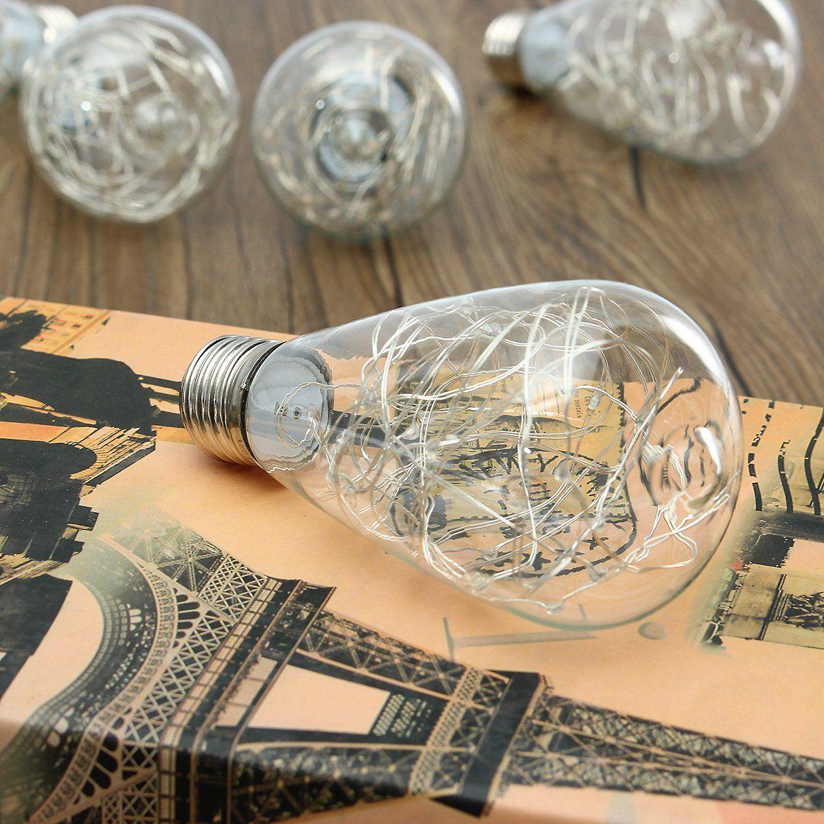 KINGSO E27 LED Lampe LED Lichterkette Edison Lampe Glühbirne Bunte ...