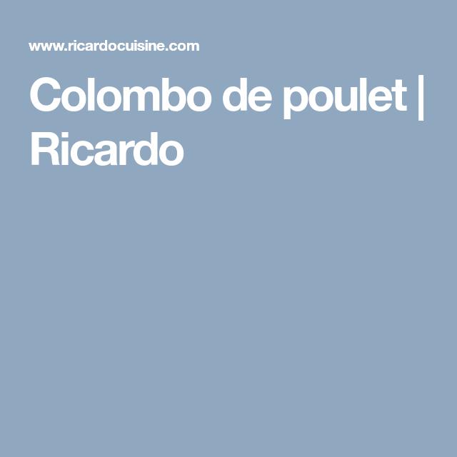 Colombo de poulet   Ricardo