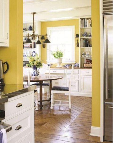 Banana Yellow Kitchen Hot Cranberry Monochromatic Rooms - Banana mood 27 yellow dipped room designs