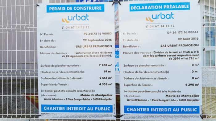 Panneau De Chantier Declaration Prealable Personnalise Panneau De