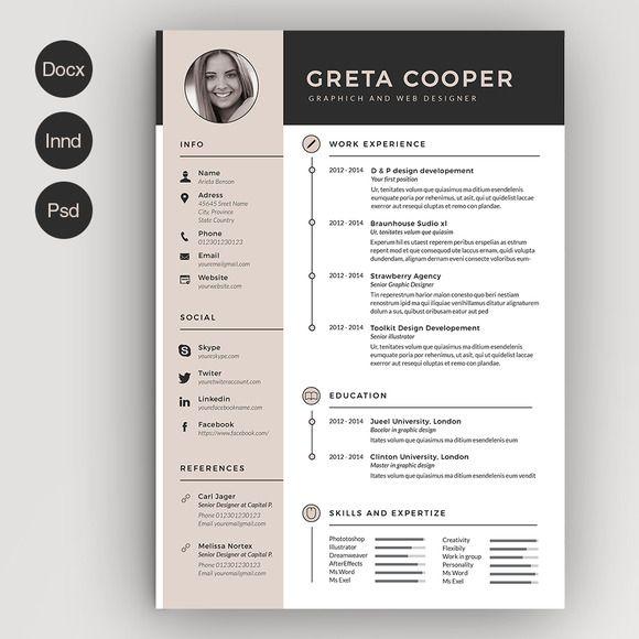 Clean Cv Resume Ii Graphic Design Resume Creative Resume Templates Infographic Resume