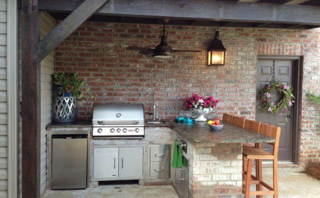 Outdoor Küche macht es möglich, köstliches Essen draußen zu genießen   Outdoor kitchen, Outdoor ...