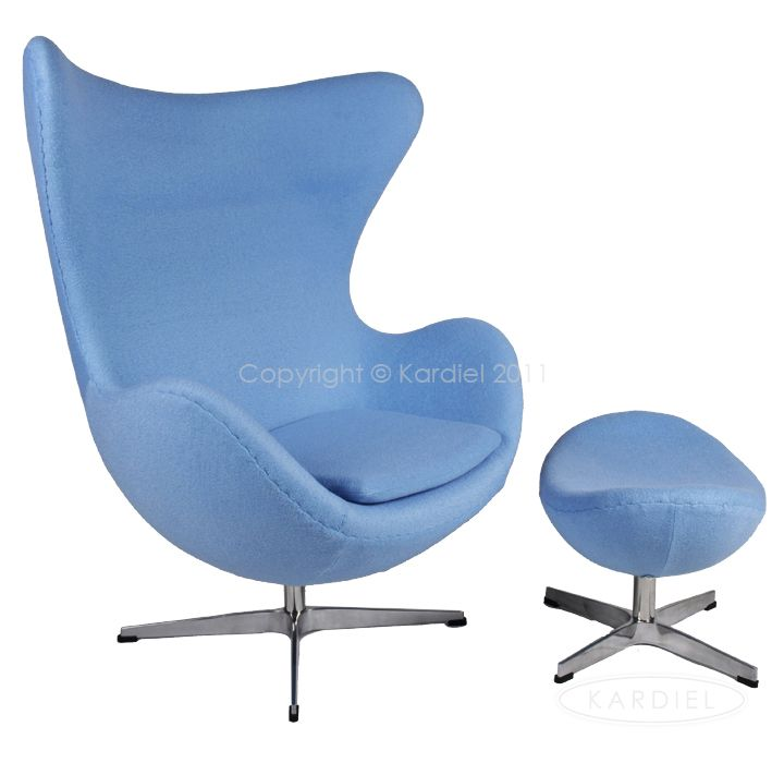 Amoeba Chair Amp Ottoman Baby Blue Furniture Chair