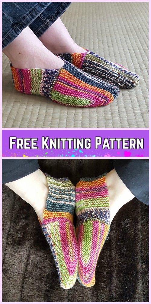 Knit Undecided Slippers Free Knitting Patterns for ladies | Tejido ...