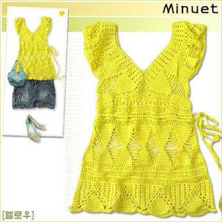 Receitas de Crochet: Blusas e tunicas de crochet para o verão