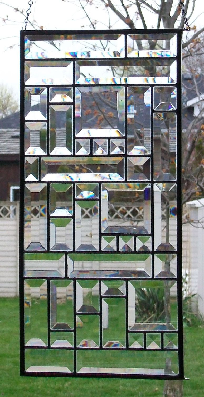Bevelled Glass Window Panel Sunfirestainedglass Stained Glass