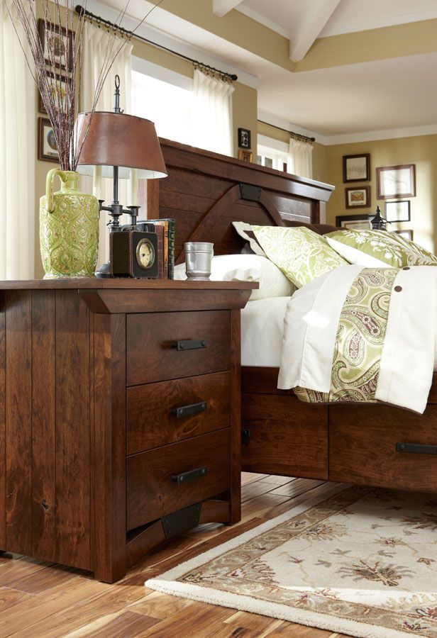 B Railroad Trestle Bridge Panel Bed From Simply Amish Furniture