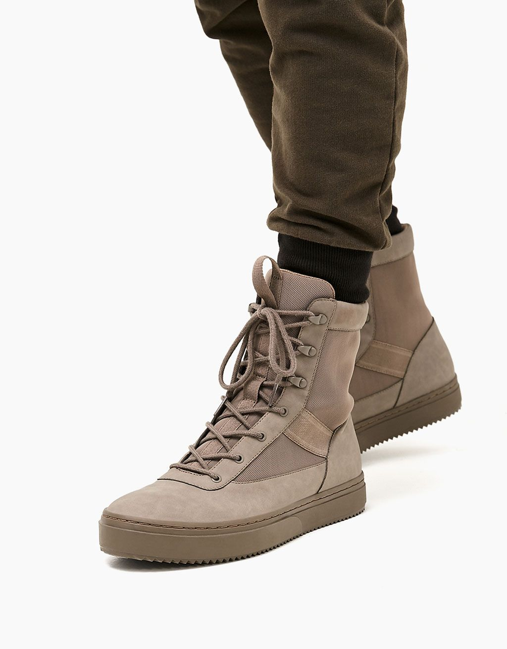 e0cf26bf48 Men s combined high tops - Naturals - Bershka Spain