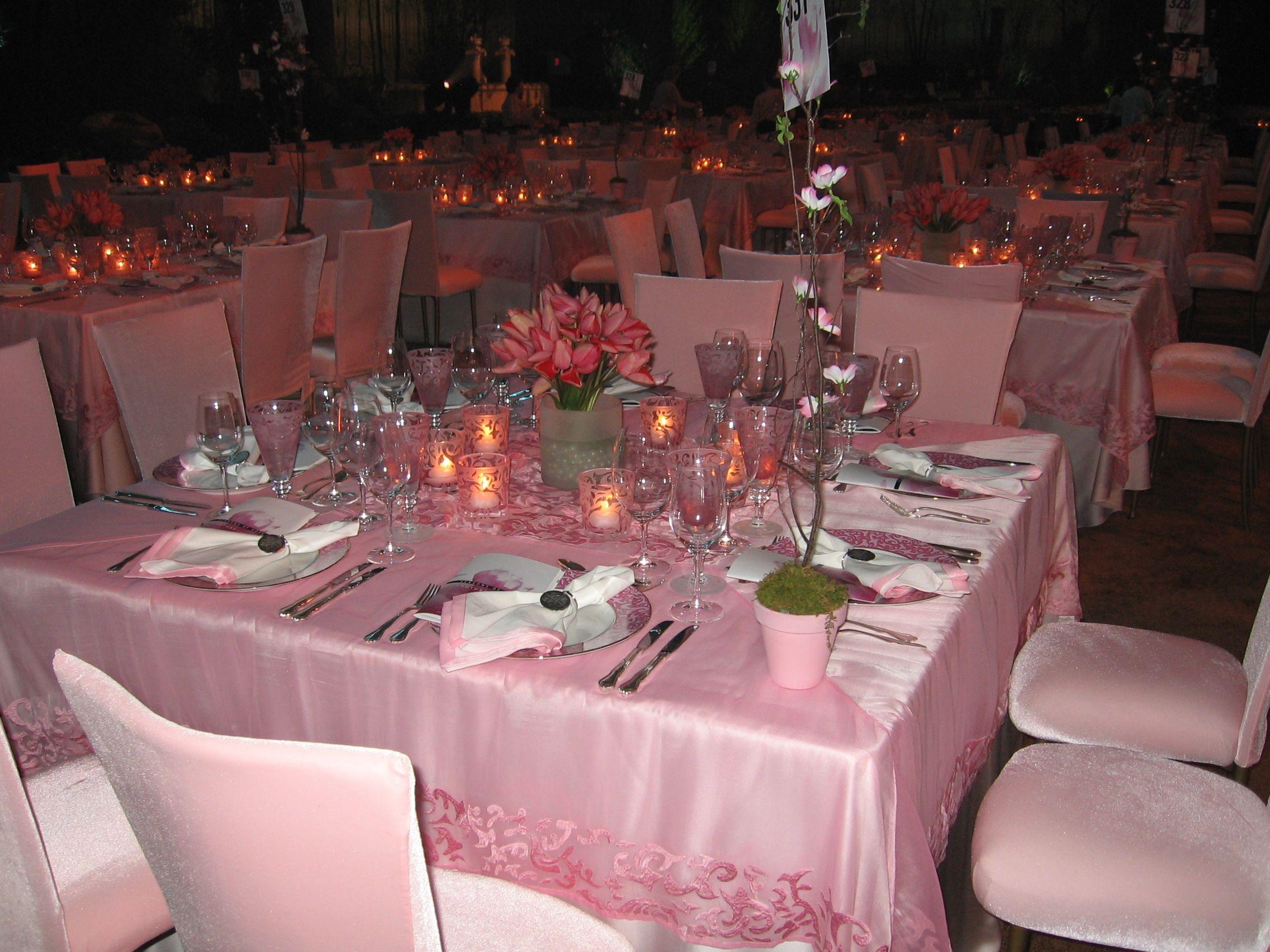 Pink Tablescape Pink Tablescape Tent Rentals Wedding Rentals