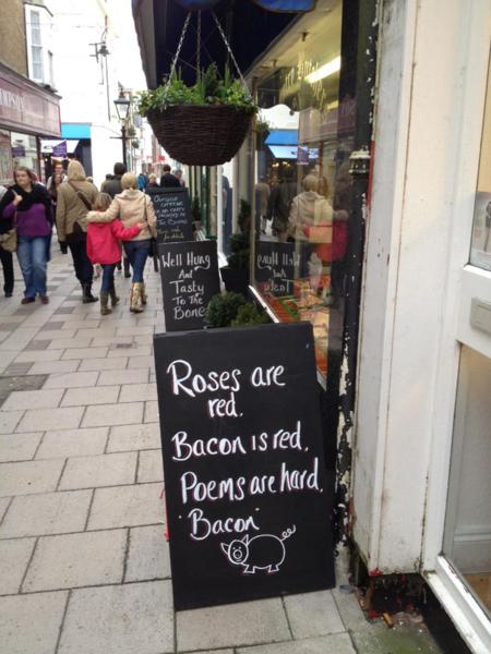 Bacon signage design | Shopify Retail blog