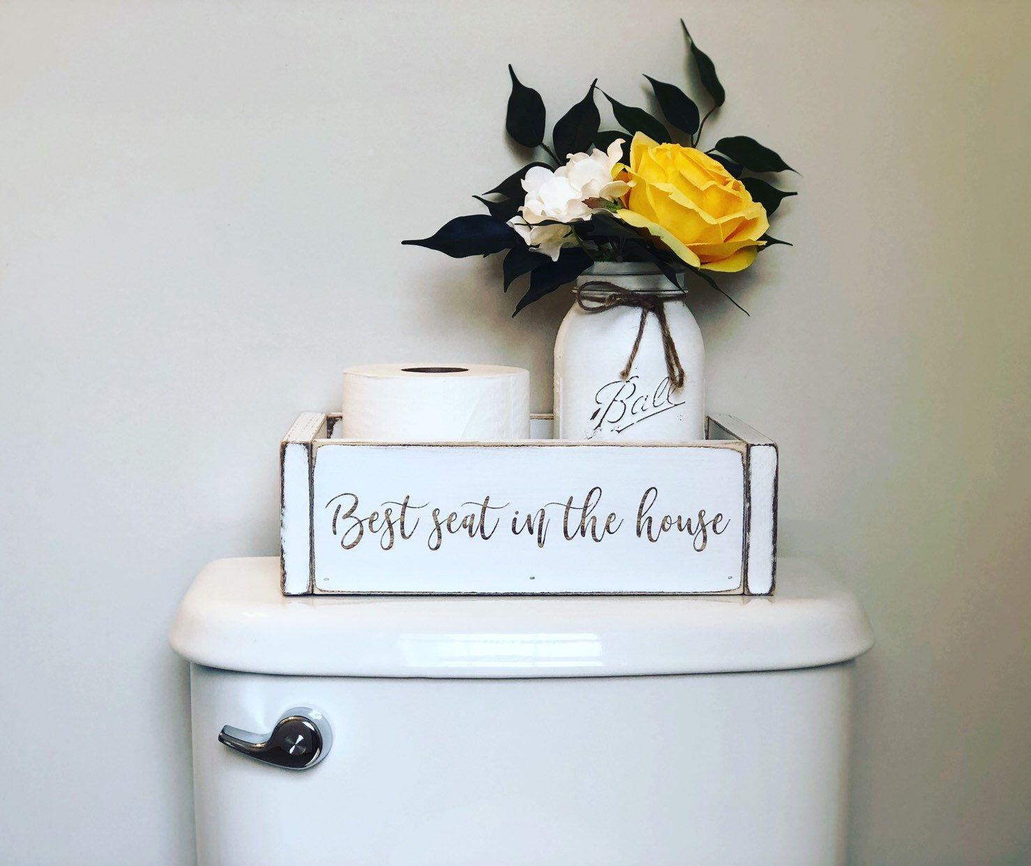 Wood Toilet Paper Holder Box Bathroom Decor Storage Box Best