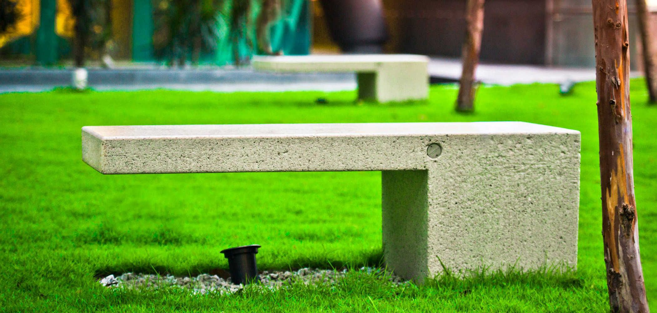 Monolithic Bench Made Entirely Out Of Reconstituted Marblestonegranite The Bench