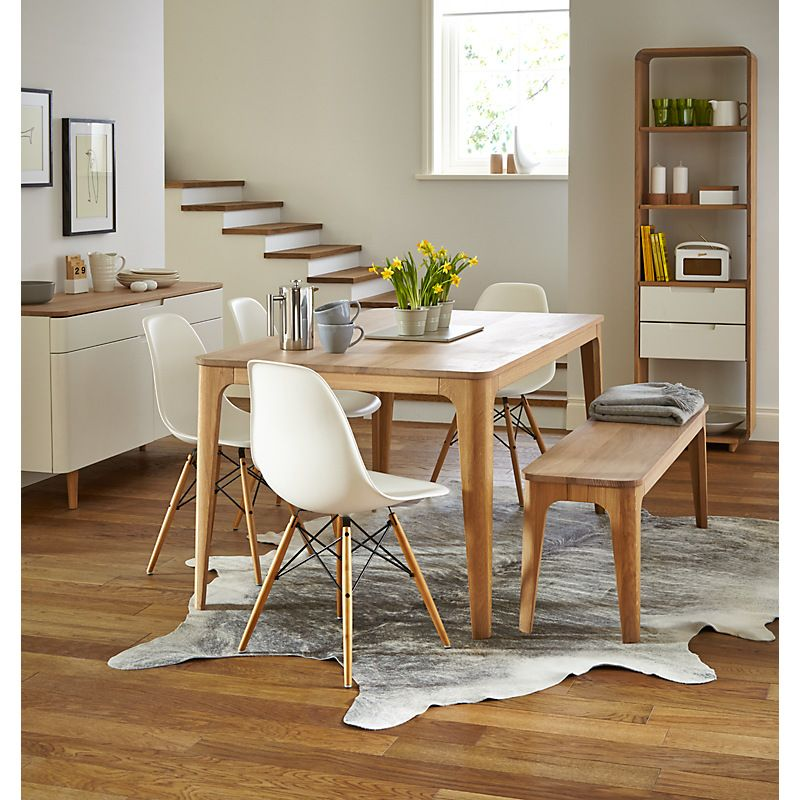 Buy Ebbe Gehl For John Lewis Mira 6 8 Seater Extending Dining Table Online At John Lewis Dining Room Small Living Dining Room Side Chairs Dining