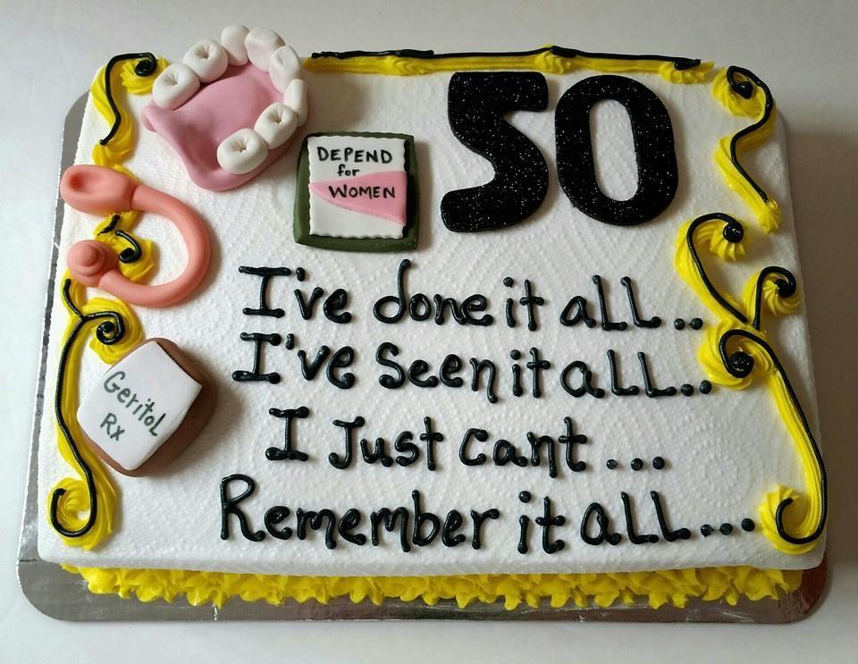 Over The Hill Cake 50th Birthday Cupcake Birthday Cake Funny