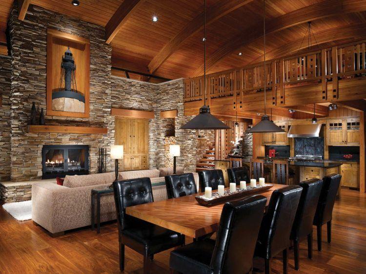 d co chalet montagne 100 id es d co inspirantes dining space pinterest deco. Black Bedroom Furniture Sets. Home Design Ideas
