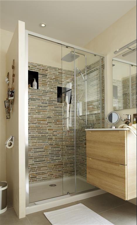 ide pour ventuellement cacher les toilettes derrire le mur de la douche gauche de la - Decoration Douche Et Toilette