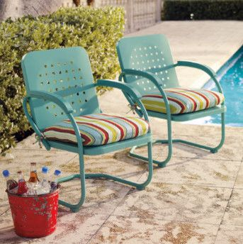Retro Outdoor Furniture Collection Eclectic Patio And