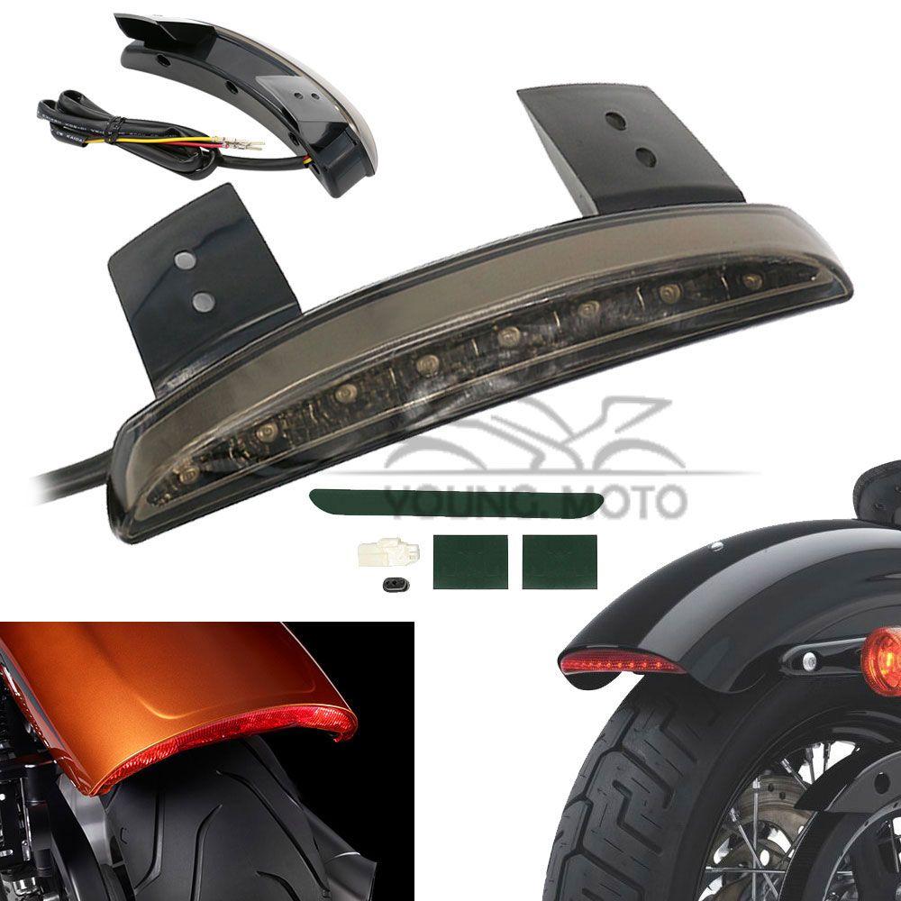 12V Chopper Motorcycle Rear Fender Edge Red 8 LEDs LED Tail