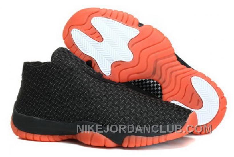 Nike Air Jordan Future Glow Mens Shoes Grey Orange