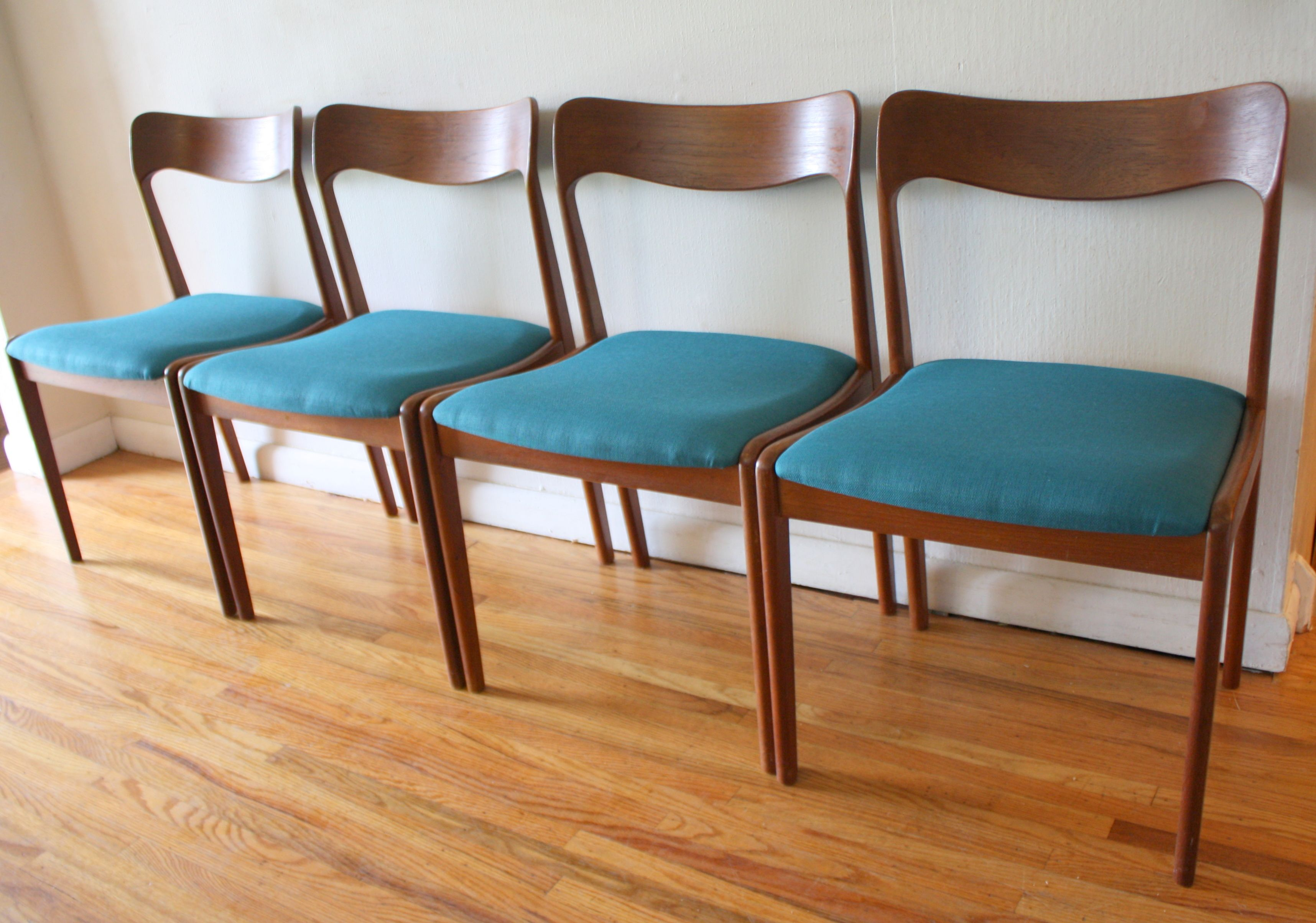 Mid century modern Danish teak arm chair by KS Mobler recovered