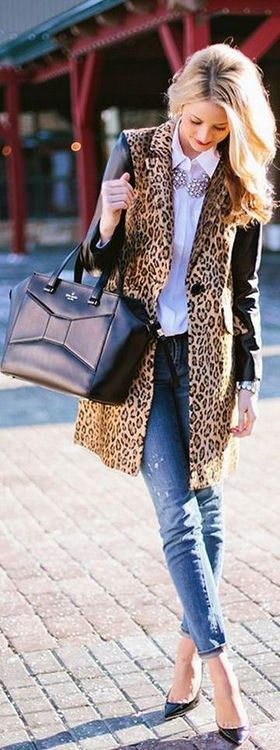 Kate Spade handbag....leopard coat