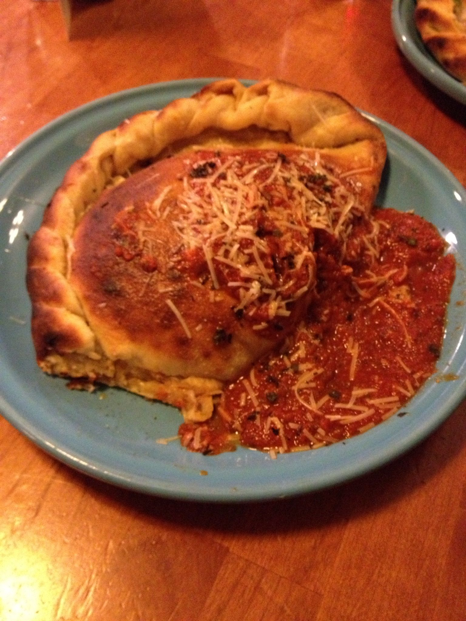 """Kyle's Favorite"" pizza made into a calzone"