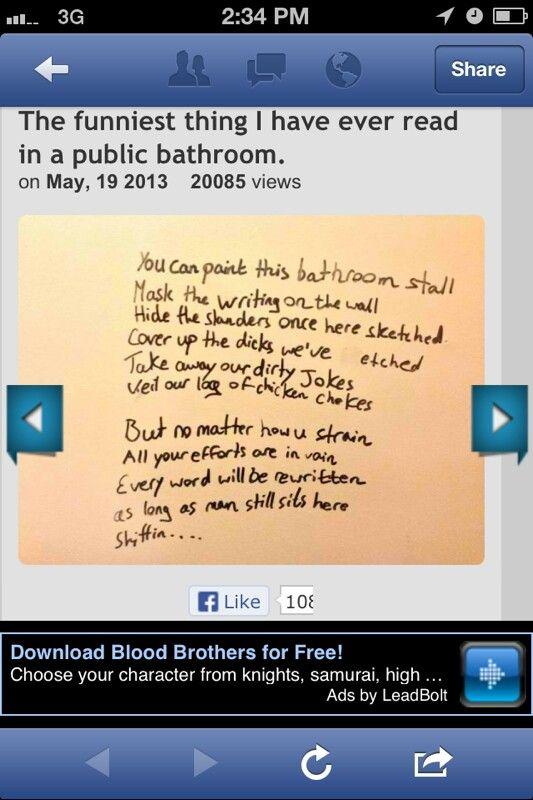 Bathroom poem