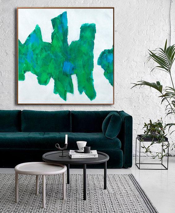 Large Contemporary Art On Canvas Hand Paint von CelineZiangArt