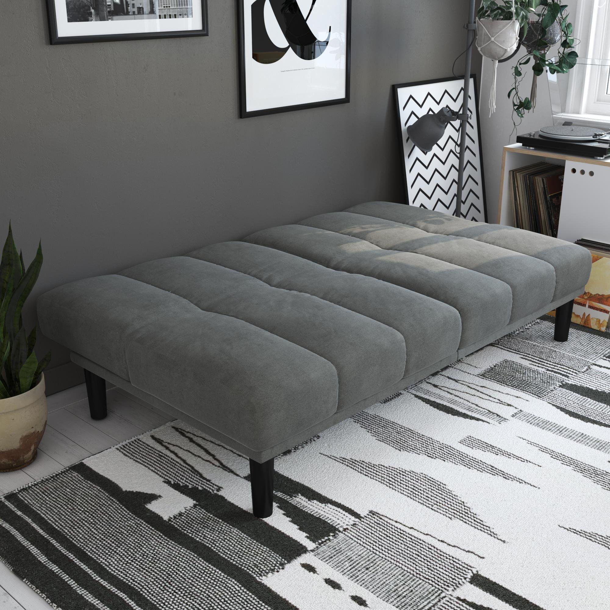 Mainstays Channel Cushion Futon Gray Walmart Com Bedroom Decor Design Futon Small Space Living Futon decorating living room
