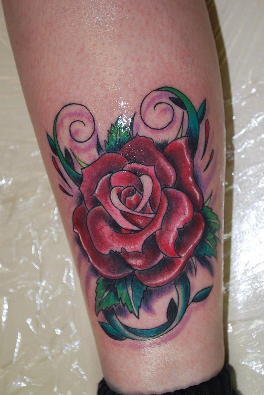 black rose tattoos Red Rose Tattoo by David Meek Tattoos