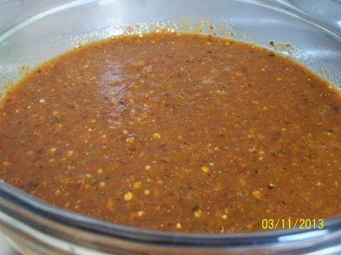 Como preparar salsa para carne asada