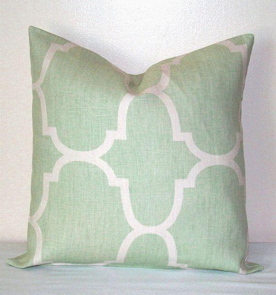 Seafoam Green And White Moroccan 40 Inch Decorative Pillows Accent Classy Seafoam Decorative Pillows