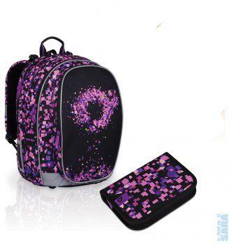 2d4de1d3e64ff Školní batoh CHI 702 I purple + penál CHI 719 I + doprava zdarma, Topgal
