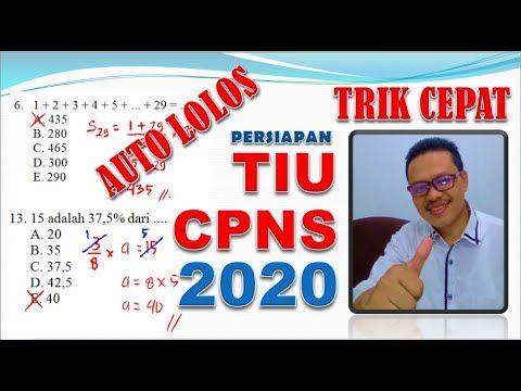 Trik Cepat Taklukkan Tes Tiu Cpns 2020 Pembahasan Soal Tiu Cpns 2019 Youtube Matematika Teknologi Informasi Adaptasi