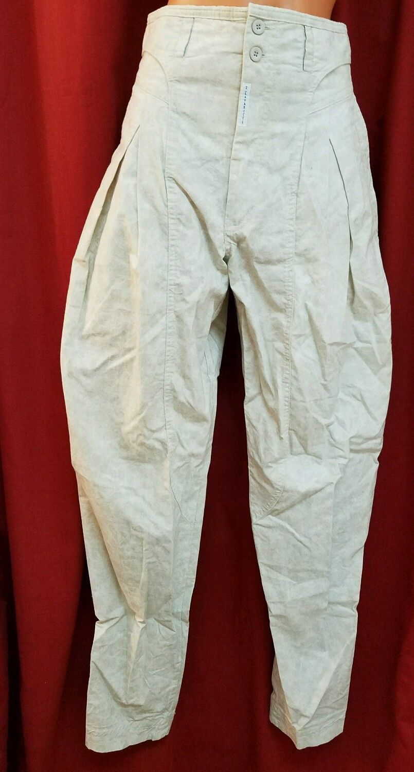 """96ffa49f4 Z. Cavaricci Beige Cotton Authentic Pant From The 80s. High Waisted. Size:  29. 100% Cotton. Waist- 26"""". Length of Inseam 31"""". The pattern is marble  like."""