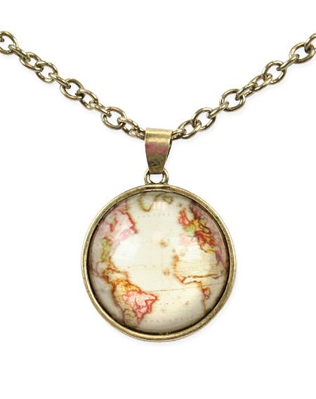 Old world map necklace map necklace steampunk emporium and old world map necklace gumiabroncs Gallery