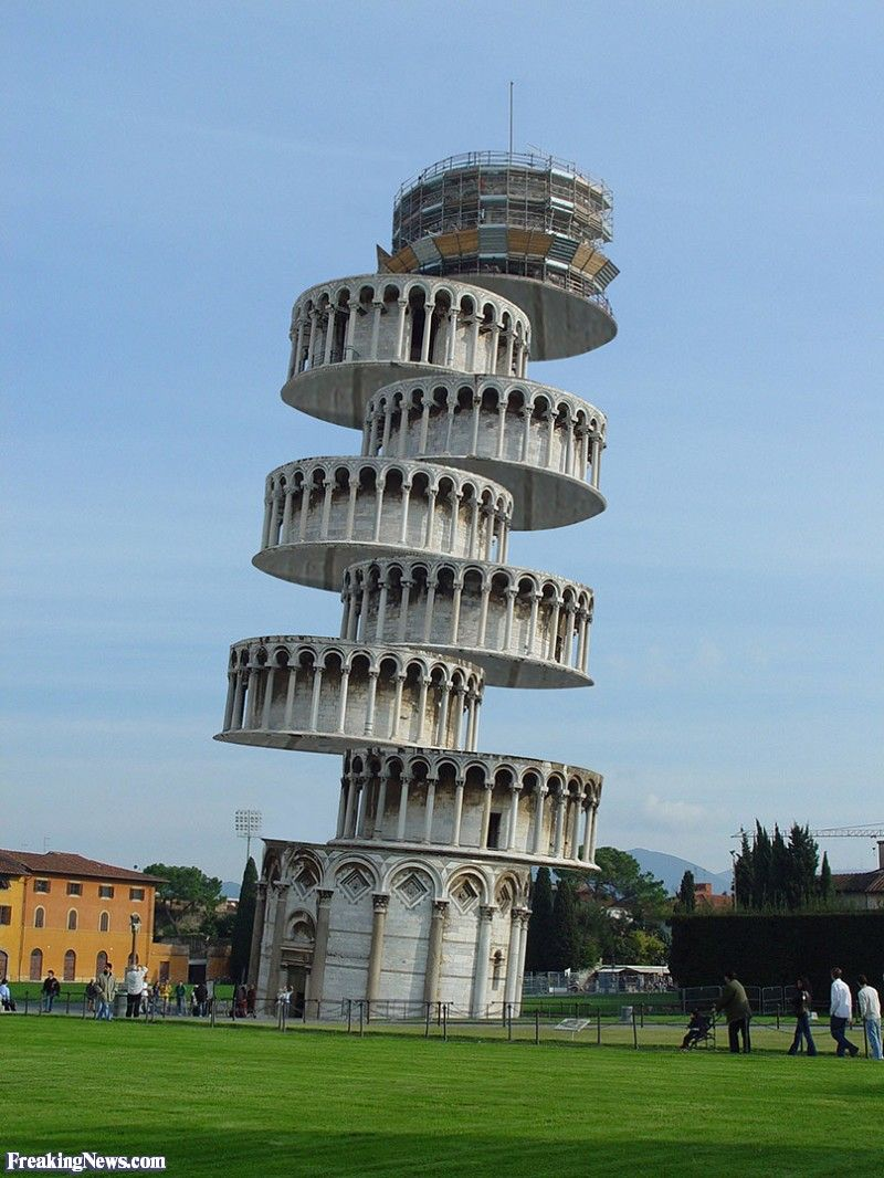 Wallpaper Sioux Falls 2 The Leaning Tower Of Pisa Is Circular In Shape And Has