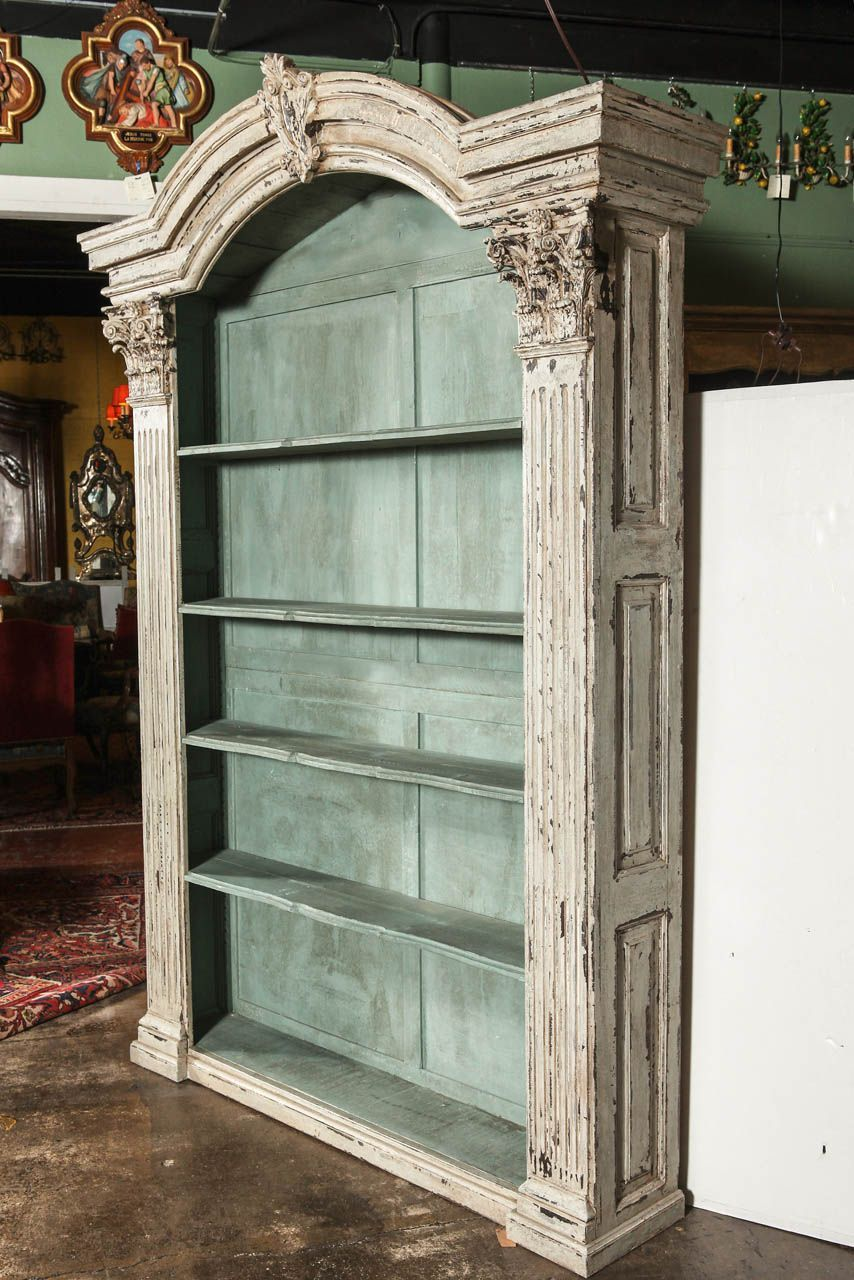 Pair Of Louis Xiv French Carved Painted Open Bookcases Made With  ~ Casas Viejas Reformadas Antes Y Despues