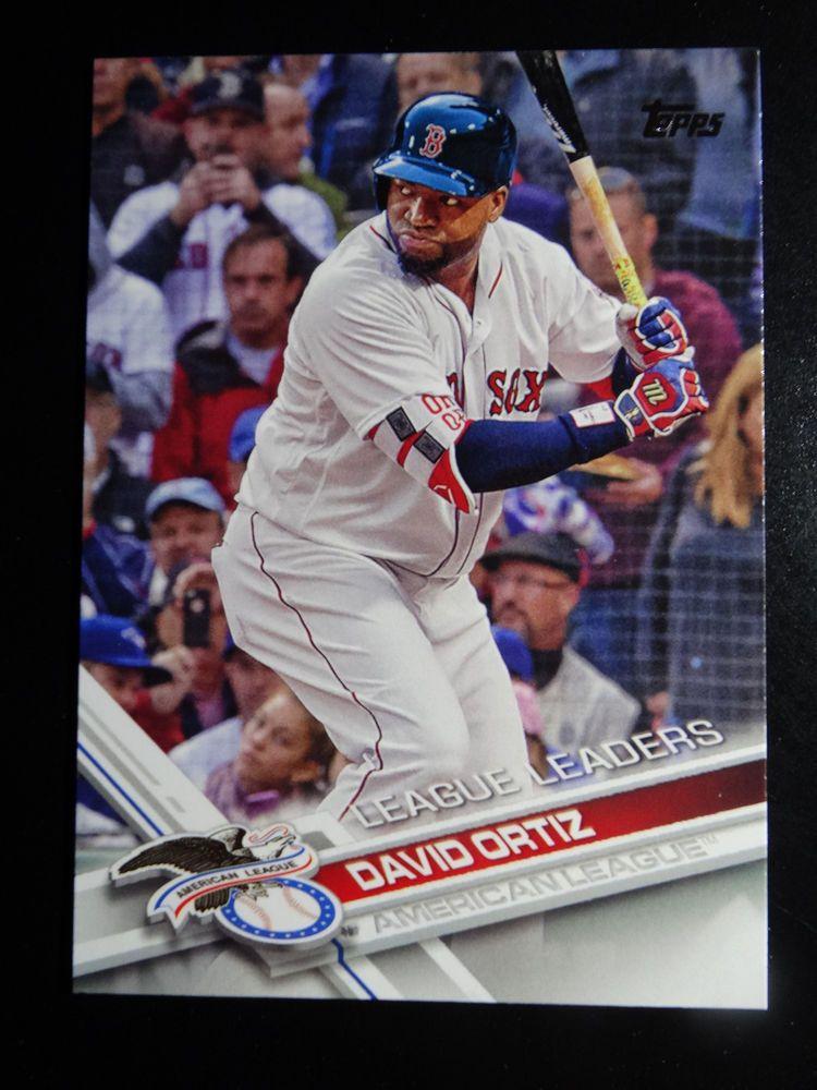 2017 Topps Series 1 229 David Ortiz League Leaders Boston Red Sox Baseball Card Topps Bostonredsox David Ortiz Boston Red Sox Baseball Red Sox Baseball