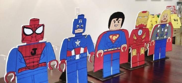 Lego superhero party decorations | Lego Superheroes Party ...