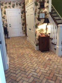 Floor Tile | Elton street | Pinterest | Brick flooring, Thin brick ...