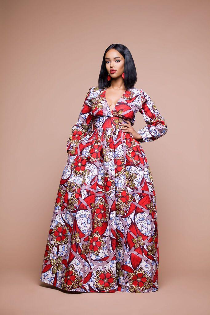 African Print Ormi Maxi Dress | African Women | Pinterest | Vestidos ...