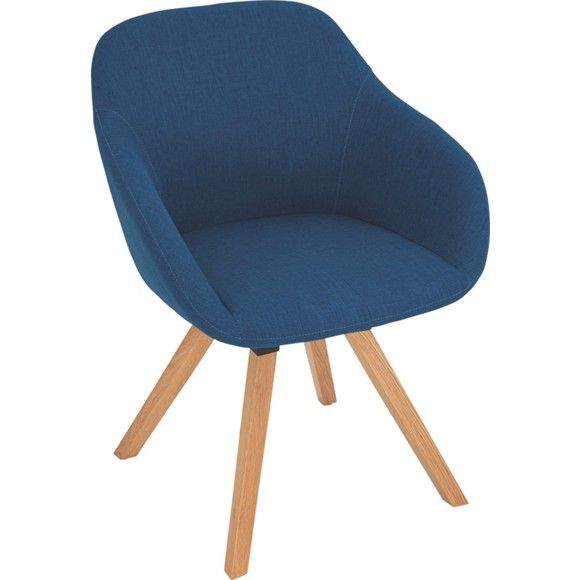 ARMLEHNSTUHL In Holz, Textil Eichefarben, Petrol   Stühle   Esszimmer    Wohn  U0026