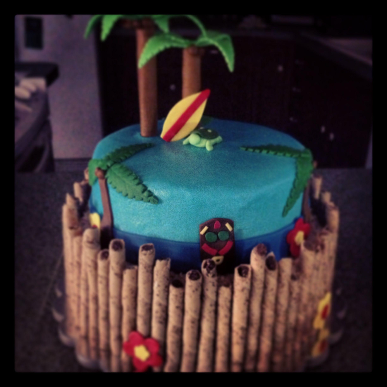 Hawaiian Luau Birthday Cake Ideas